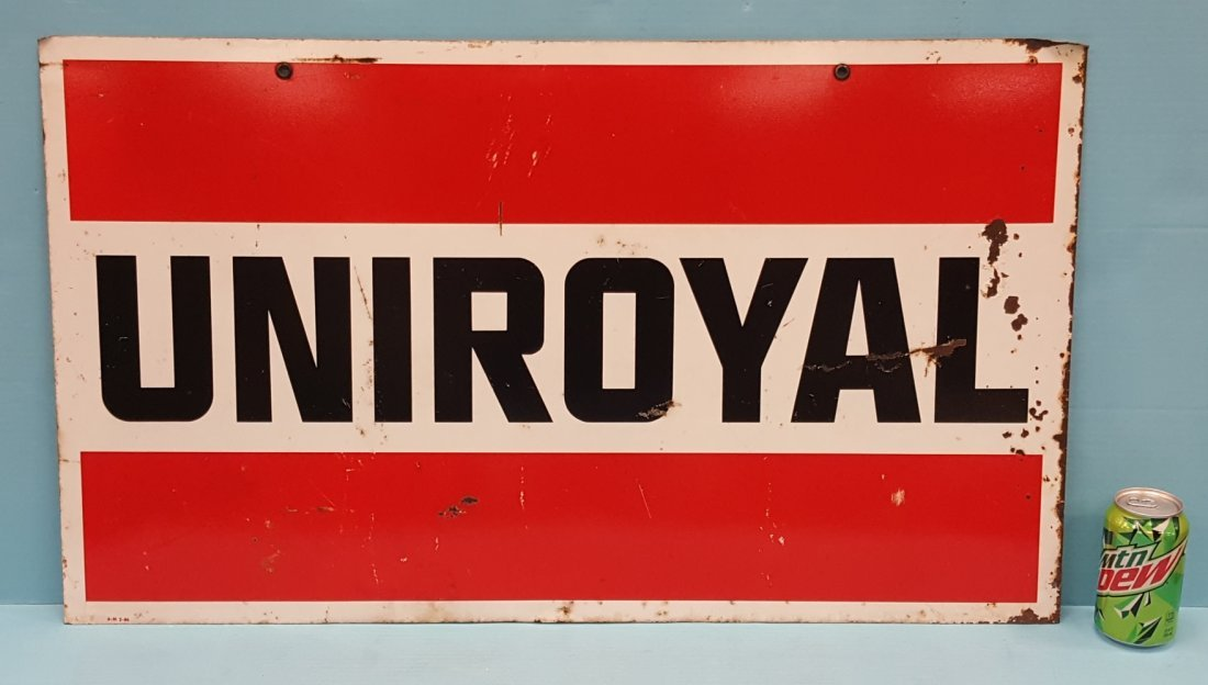 Uniroyal  Double sided metal sign. - 2