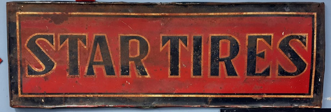 1947 Embossed Star Tires Sign