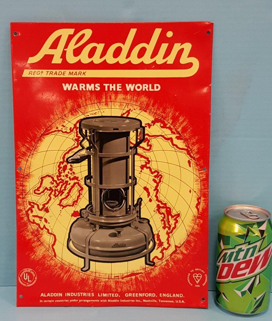Alladdin Heaters Tin Sign