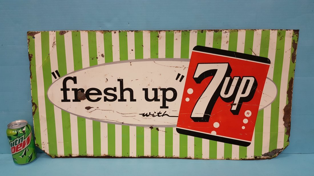 Fresh Up with 7up Tin Sign