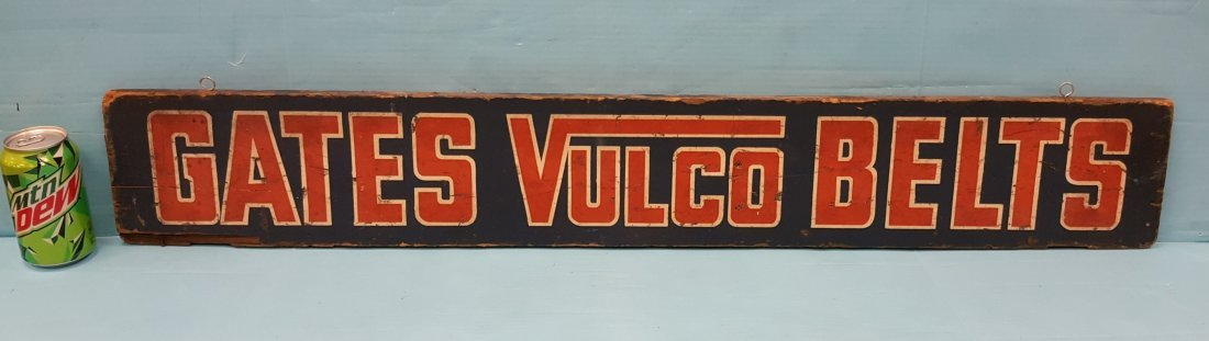 Gates Vulco Belts Wood Sign & Belt Length Finder - 3