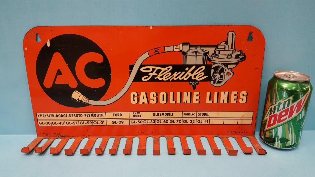 1947 AC Gasoline Lines Display Rack Sign