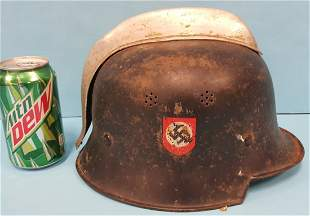 German Nazi Fire Police Helmet
