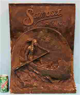 Samoset Chocolates 3D Plaster Store Display Sign