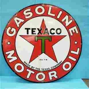"Porcelain Texaco 42"" Double Sided Sign"