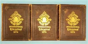 RARE 1876 International Exhibition Catalogue 3 Vol. Set