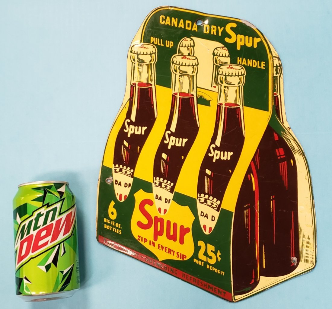 Spur 6 Pack Tin Sign