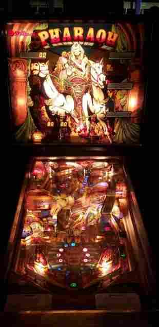Restored Pharaoh Pinball Machine