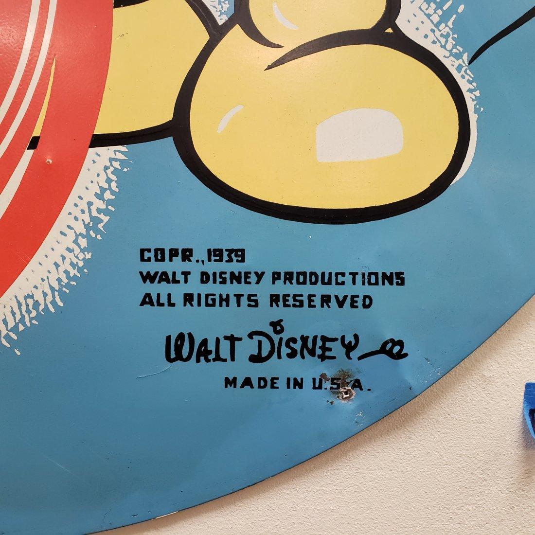 1939 Walt Disney Mickey Mouse  RPM Motor Oil Tin Sign - 3