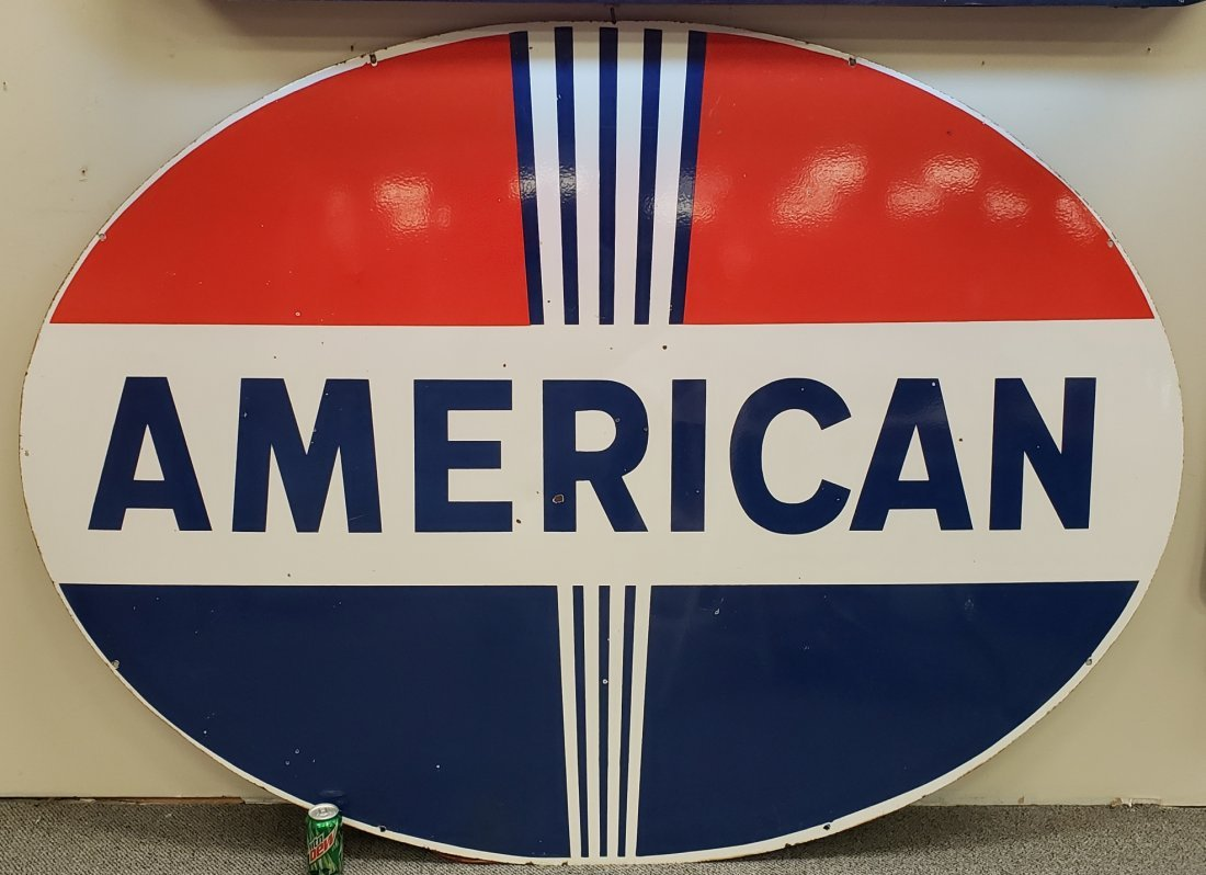 Porcelain Double sided American Dealership Sign