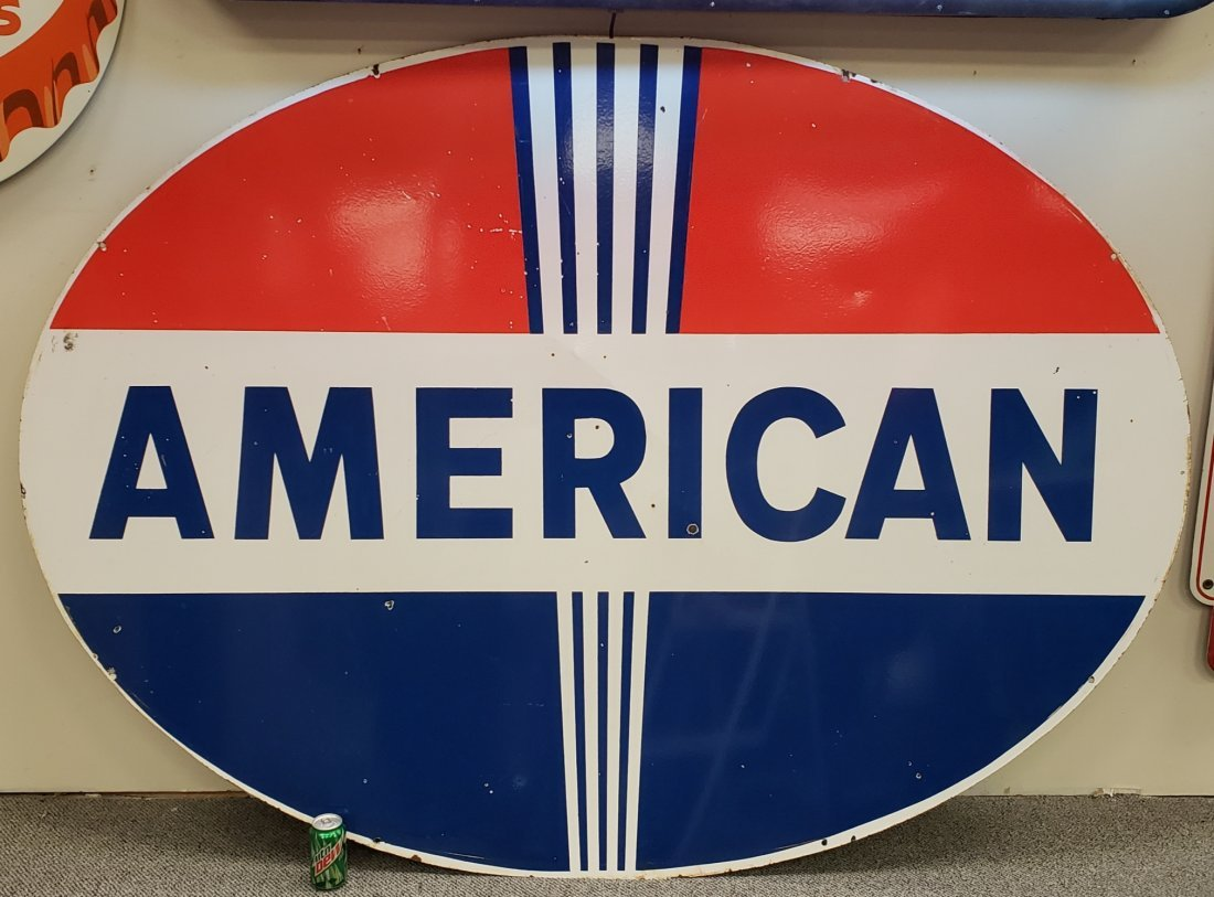Porcelain Double sided American Dealership Sign - 2
