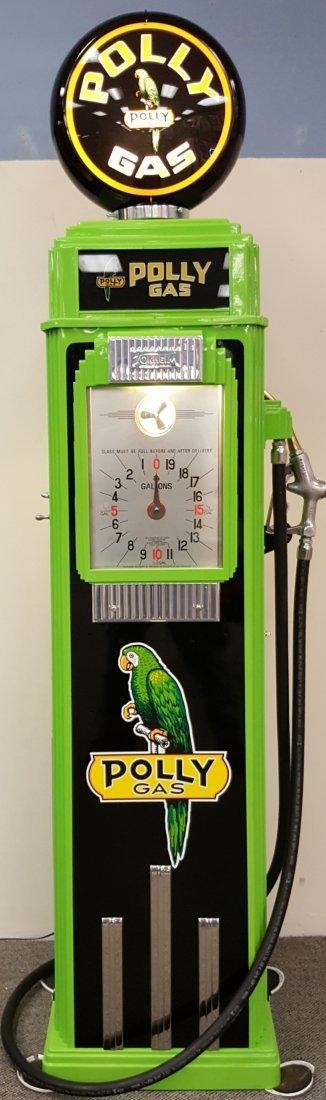 Restored Tokheim 36B Clock Face Polly Gas Pump