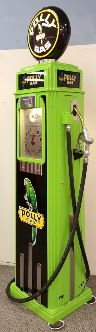 Restored Tokheim 36B Clock Face Polly Gas Pump - 2