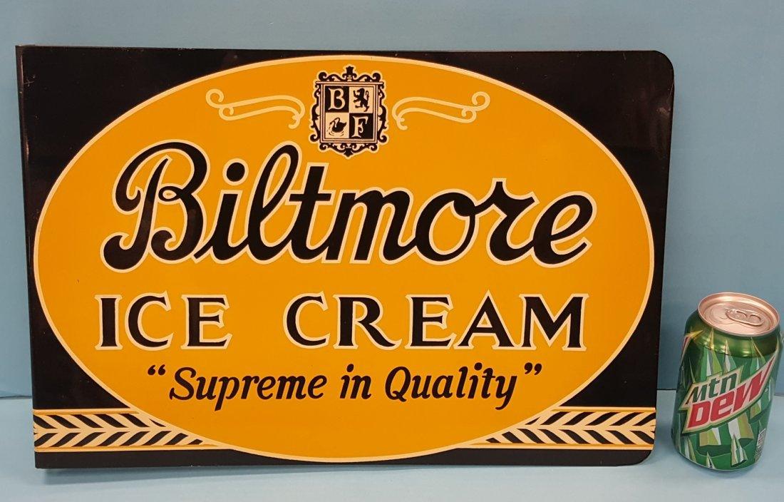 NOS Biltmore Ice Cream Flange Sign