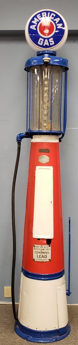 Gilbert and Barker  American Gas Visible Gas Pump #177 - 2