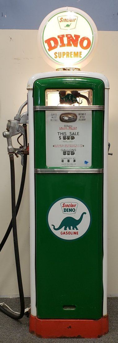 Sinclair DINO Supreme Gilbarco Calco Meter Gas Pump