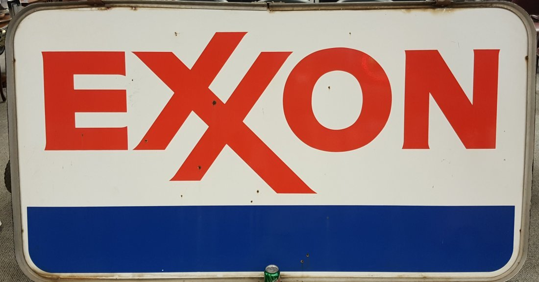 EXXON Double Sided Porcelain w/ ring