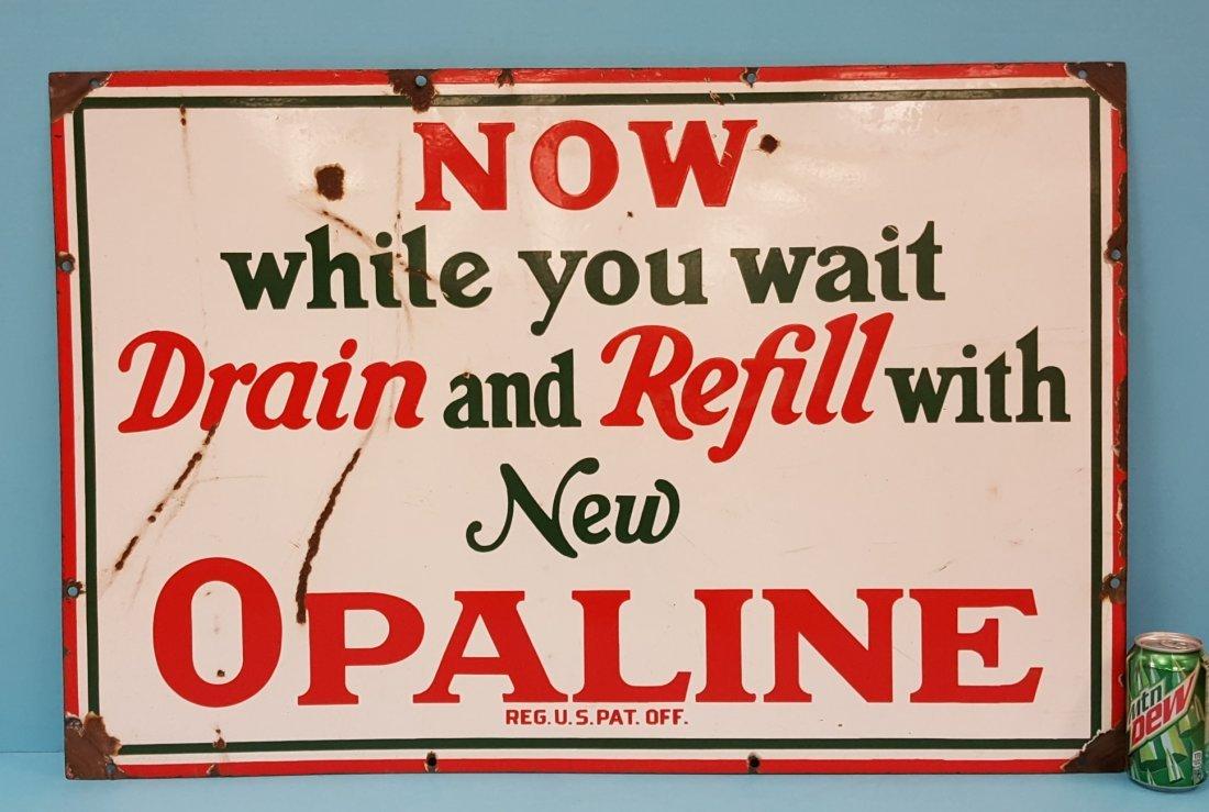 (Sinclair) Opaline Porcelain Sign