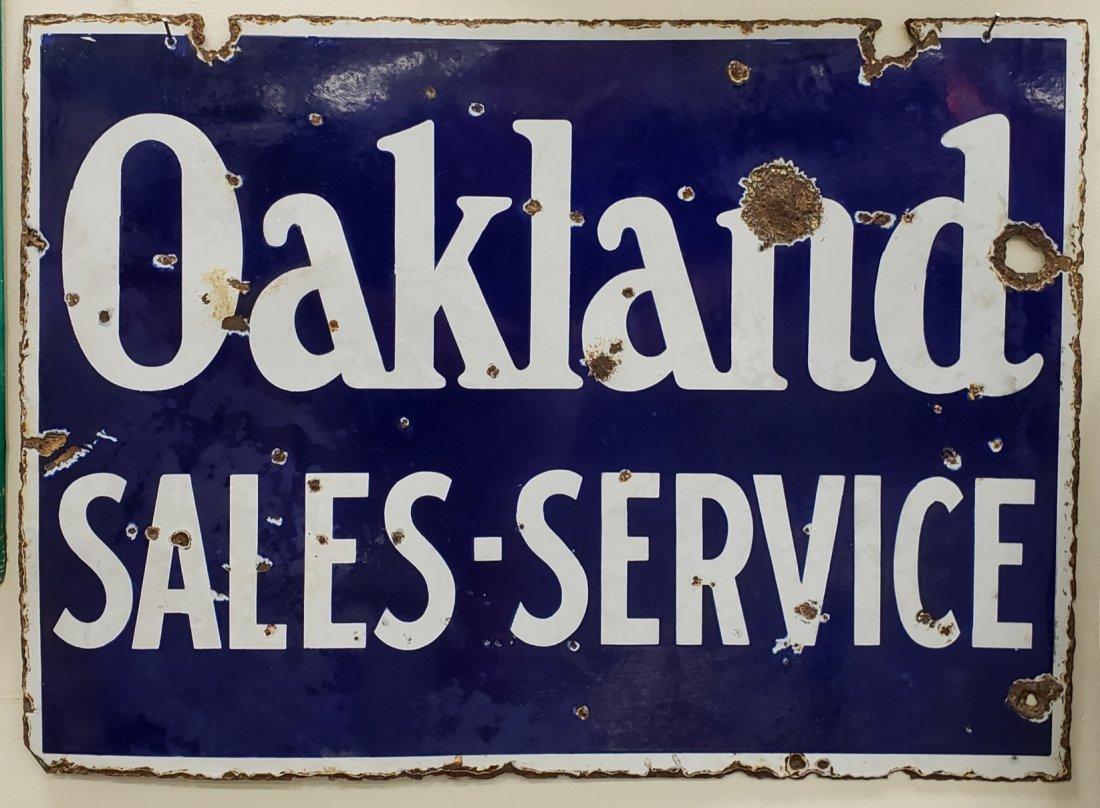 Porcelain Oakland Sales and Service Sign