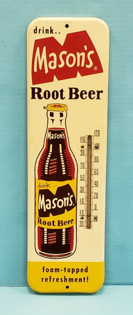 Drink Mason's Root Beer Thermometer