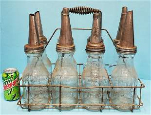 Embossed Huffman Oil Bottles with Carrier