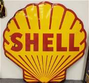Porcelain 5ft Shell Sign Clam Shell