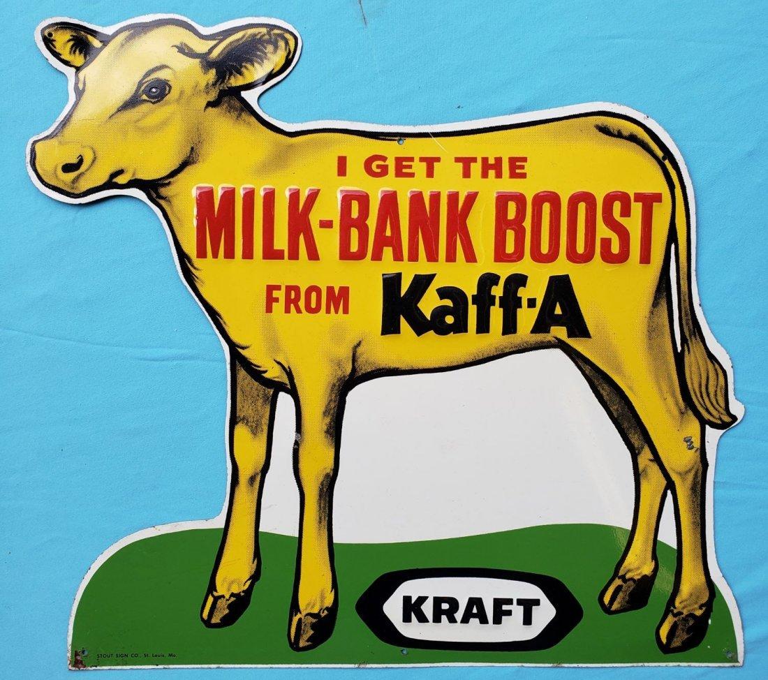 Kraft Milk Bank Boost from Kaff-A Tin Sign