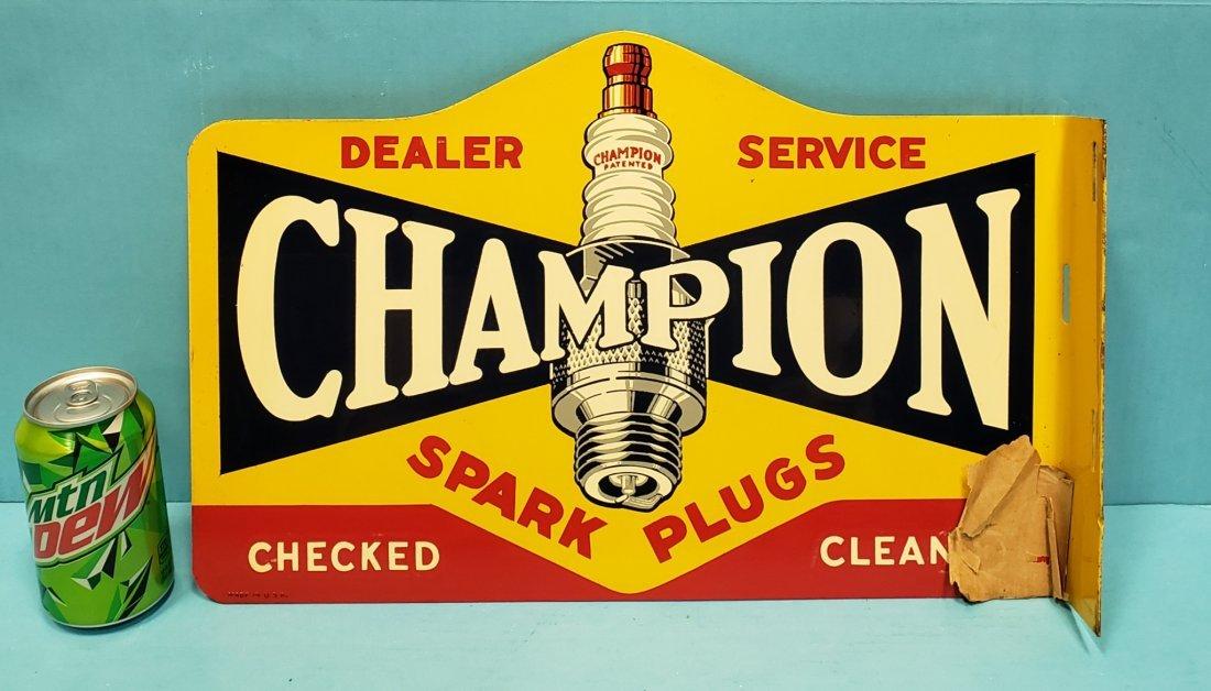 NOS Champion Spark Plug Flange Sign