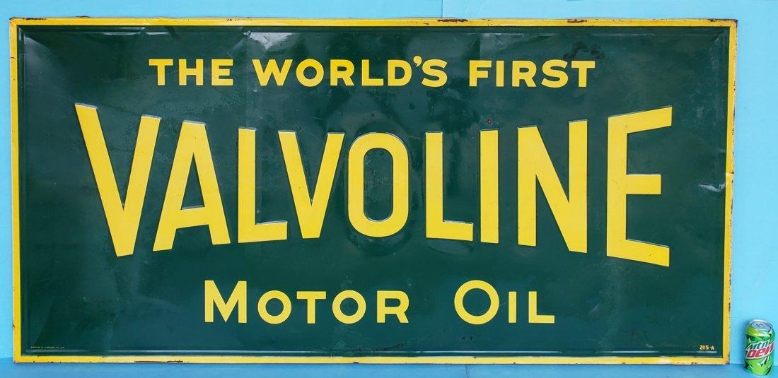Valvoline Motor Oil Tin Sign