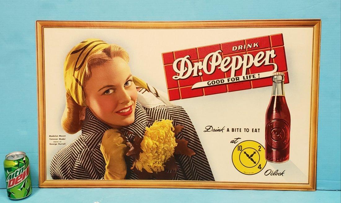 Drink Dr Pepper Good For Life Cardboard  Sign