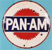 Scarce Version Porcelain Pan Am Sign Double sided