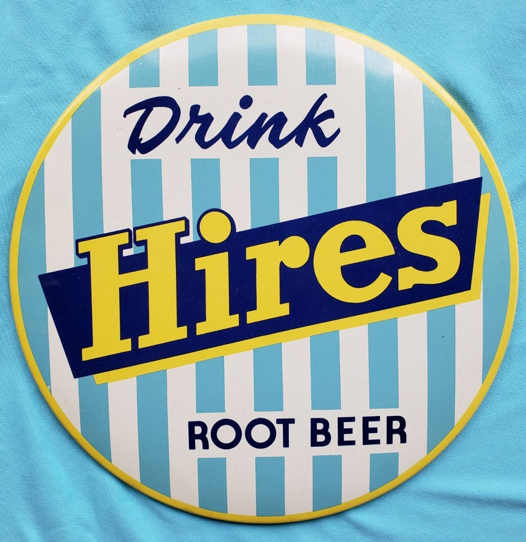 Hires Root Beer Celluloid Sign