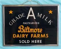 RARE Biltmore Dairy Farms Grade A Milk Sign