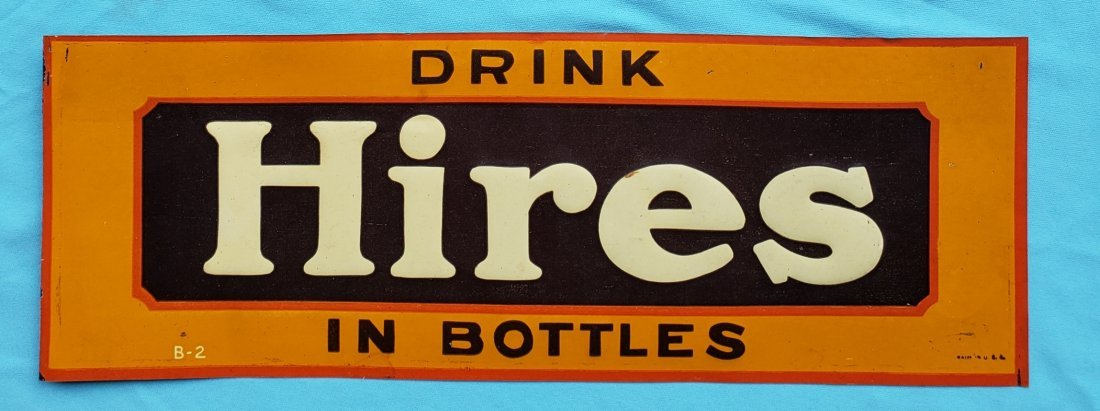 Drink Hires Root Beer Tin Sign