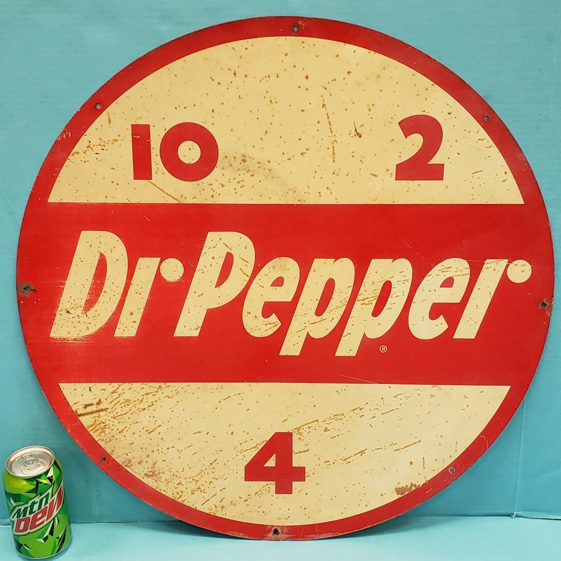 Dr Pepper Round Disc Tin Sign