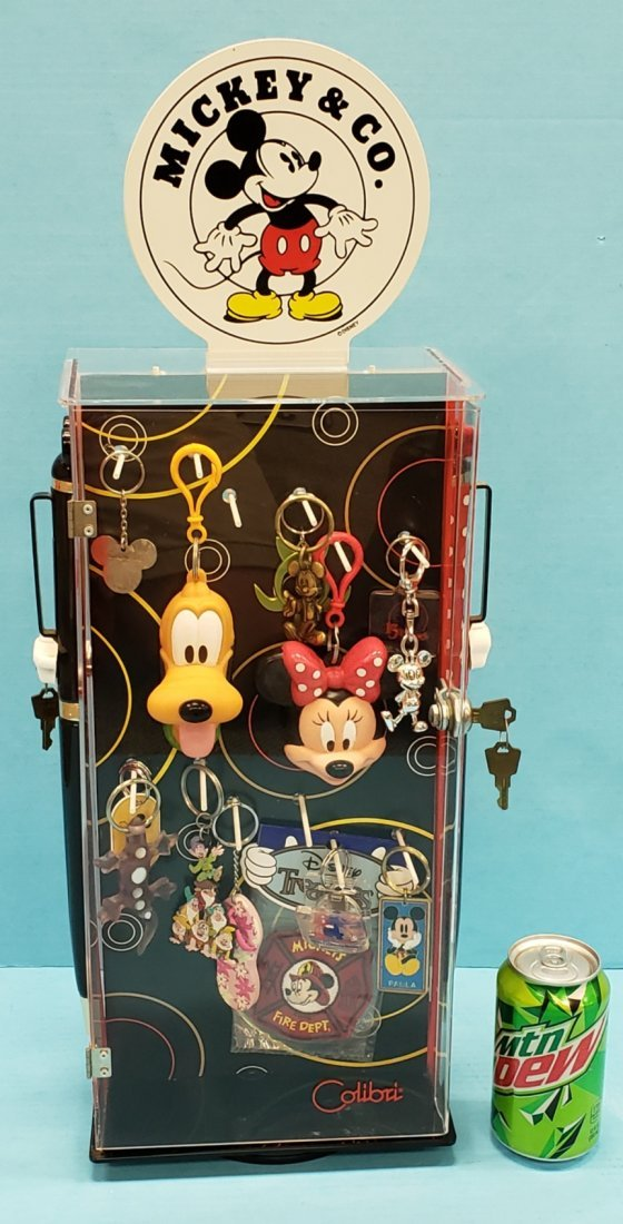 Mickey Mouse & Co. Keychain Display w/ Contents