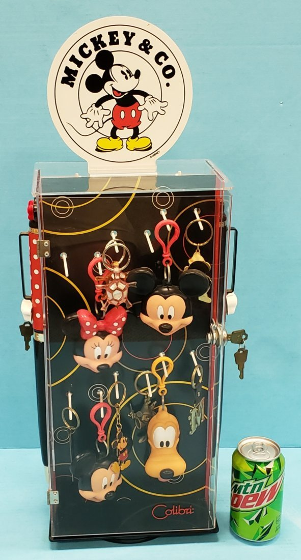 Mickey Mouse & Co. Keychain Display w/ Contents - 2