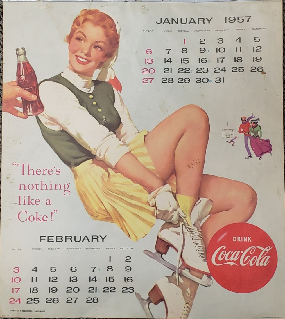 1957 Coca Cola Calendar