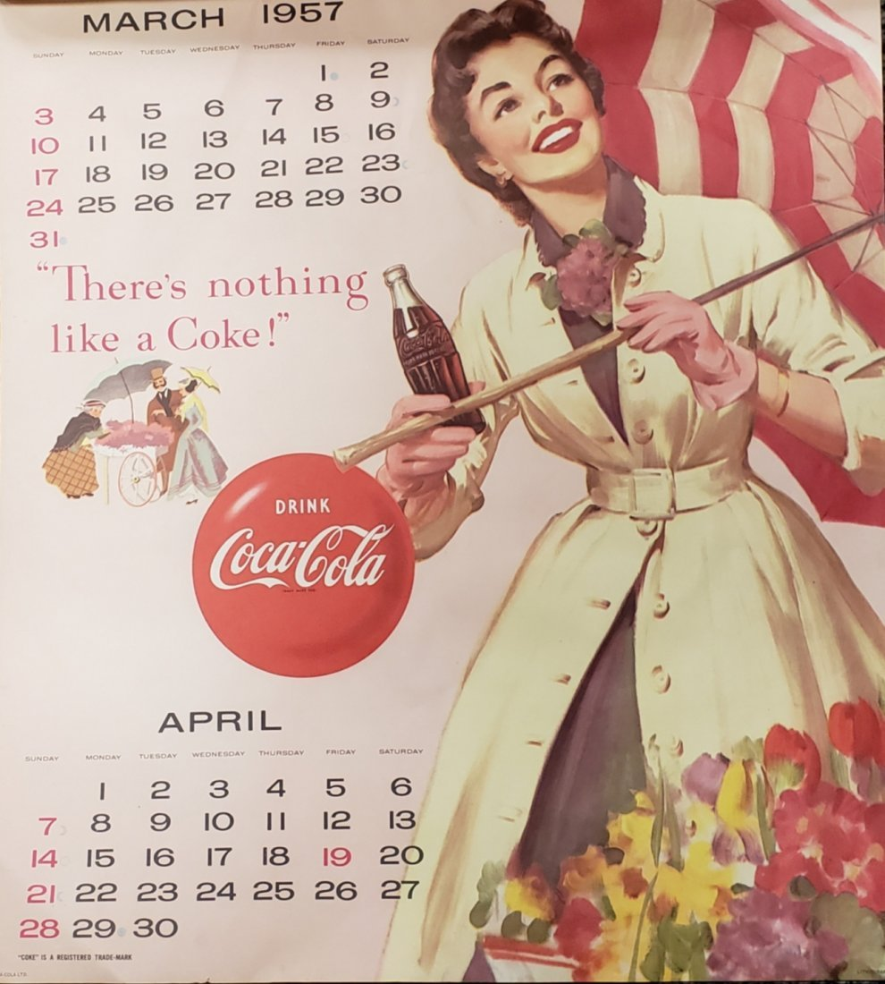 1957 Coca Cola Calendar - 2