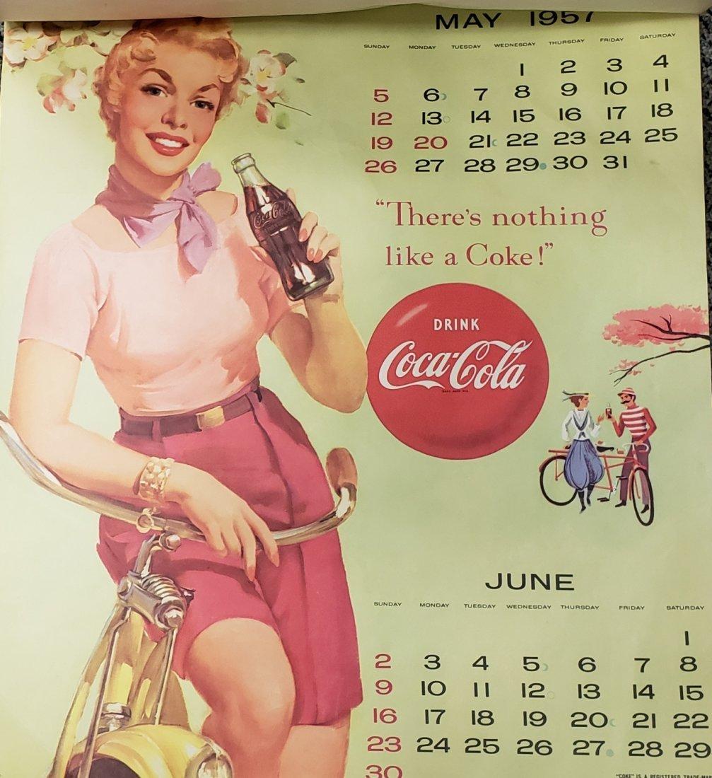 1957 Coca Cola Calendar - 3