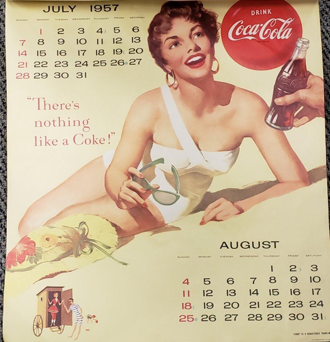 1957 Coca Cola Calendar - 4