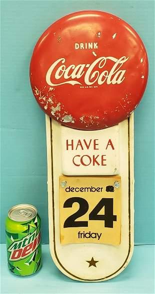 Coca Cola Button Calendar