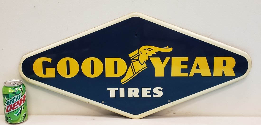 Goodyear Tires Tin Diamond Advertising sign