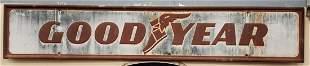 Embossed Goodyear Self Framed Tin Sign
