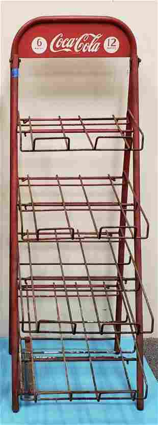 Coca Cola Bottle Rack with Sign