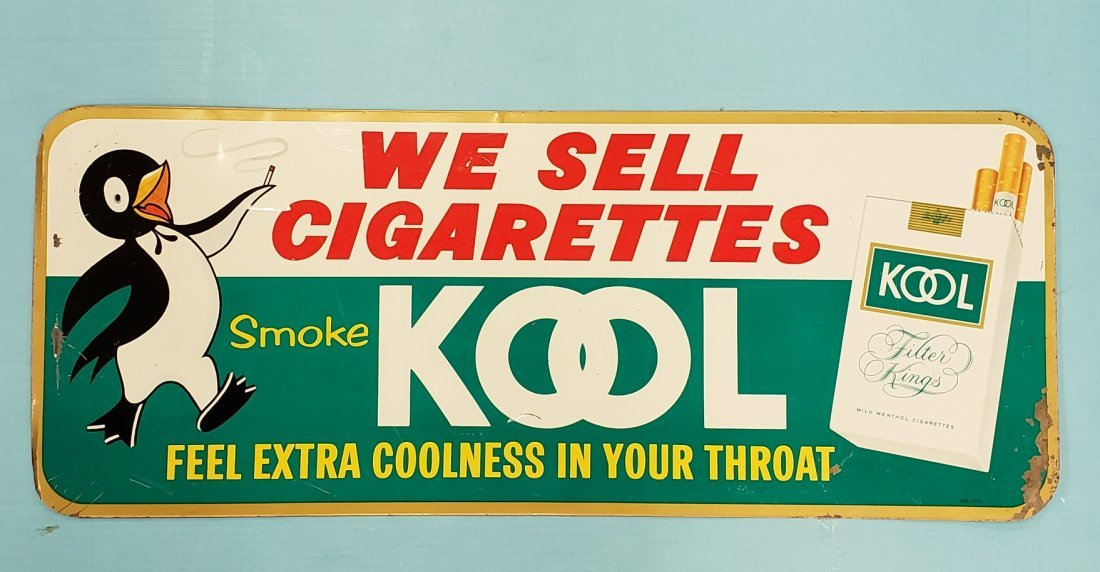 Kool Cigarettes Tin Advertising Sign