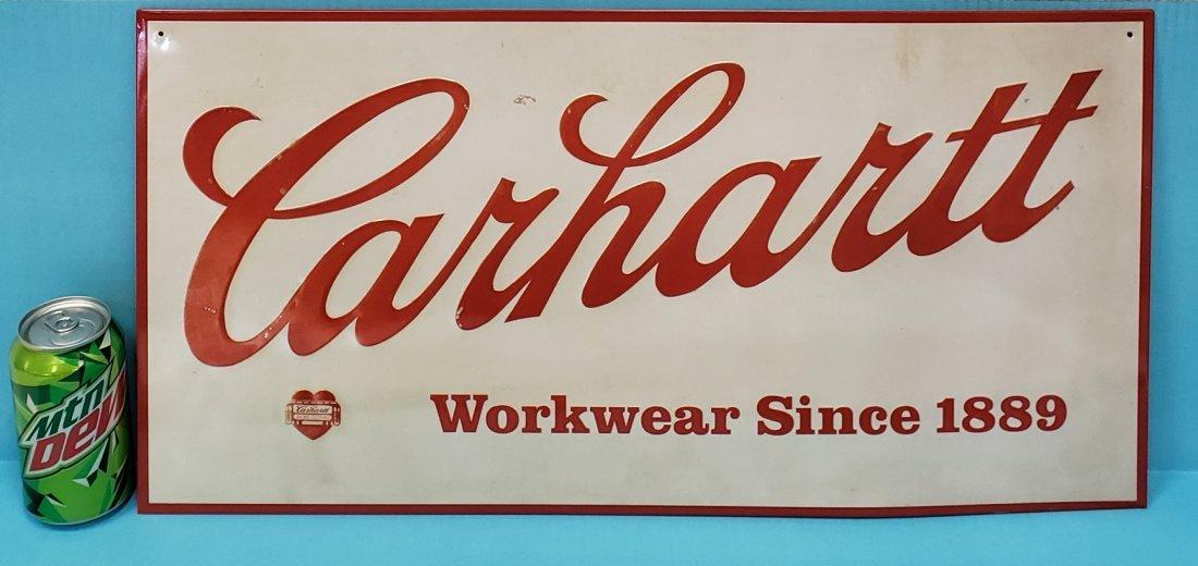 Carhartt Embossed Tin  Sign