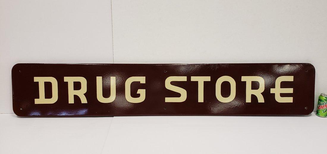 Porcelain Drug Store Sign