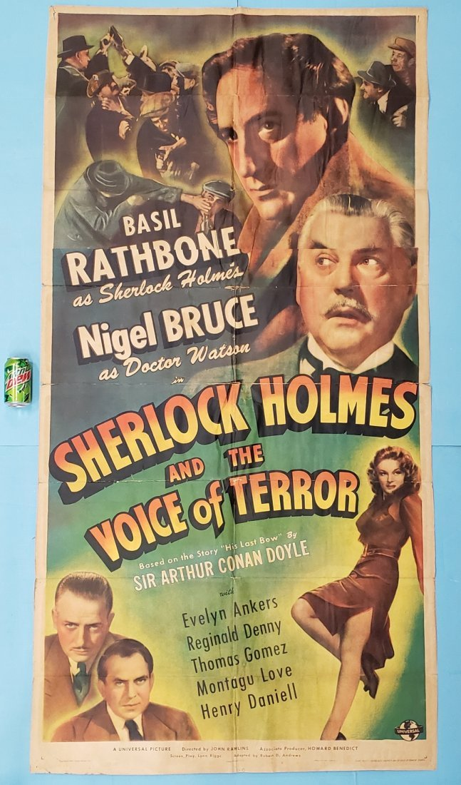 1942 3 Sheet Sherlock Holmes and the Voice of Terror