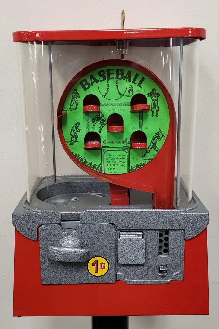 Restored Baseball Gumball Machine